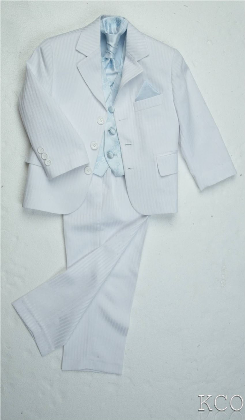 James White/Blue~ Boys Suits
